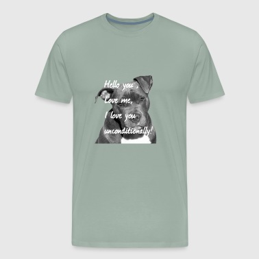 Stafford,Terrier,Dog,Dog Lovers,Dogs,Dog head, - Men's Premium T-Shirt