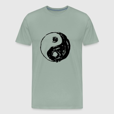 YIN and YANG frayed cool look - Men's Premium T-Shirt