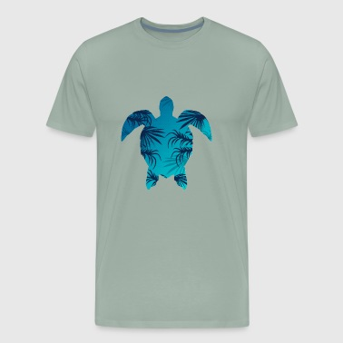 Nature animal turtle wildlife vector cartoon image - Men's Premium T-Shirt
