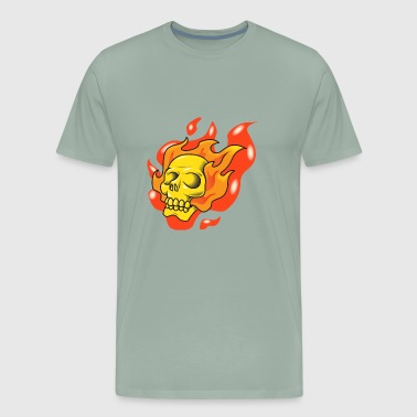 skull fire - Men's Premium T-Shirt