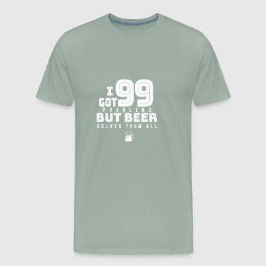 Beer Drinking Alcohol Gift Present Chugging Shirt - Men's Premium T-Shirt