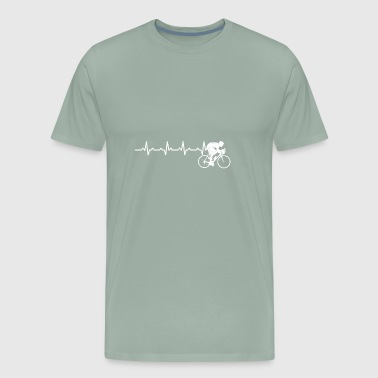 Heartbeats Road Bike Lover Design - Men's Premium T-Shirt