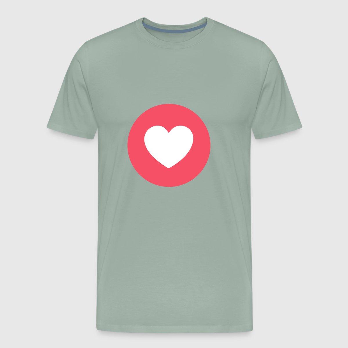 Tee Shirt Facebook Circle Heart Love By Spreadshirt