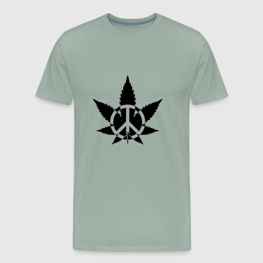 T shirt Peace Marijuana Weed - Men's Premium T-Shirt
