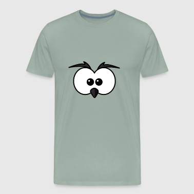 Eyes with beak and eyebrows black - Men's Premium T-Shirt