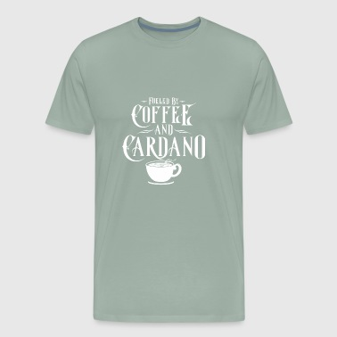 CRYPTO BLOCKCHAIN: COFFEE AND CARDANO - Men's Premium T-Shirt