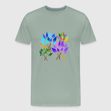 Colored Trees - Men's Premium T-Shirt