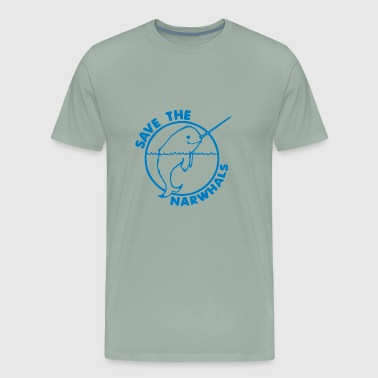 Save The Narwhales - Men's Premium T-Shirt