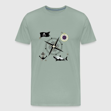 Nautical Flags Nautical Designs - Men's Premium T-Shirt