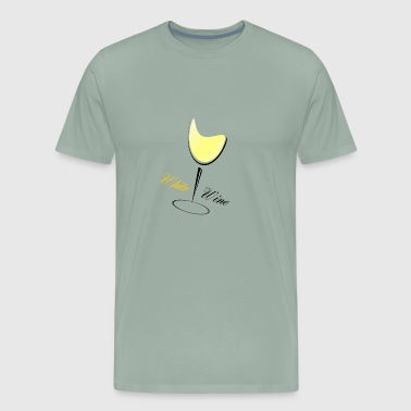 white wine - Men's Premium T-Shirt