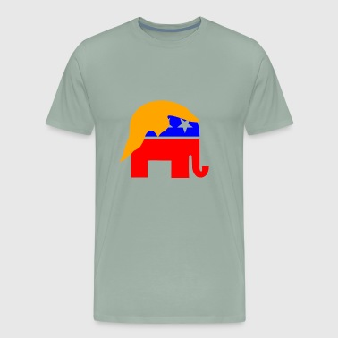 President Donald Trump elephant - Men's Premium T-Shirt