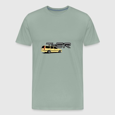 Volvoo 850 T 5R Yellow Car - Men's Premium T-Shirt