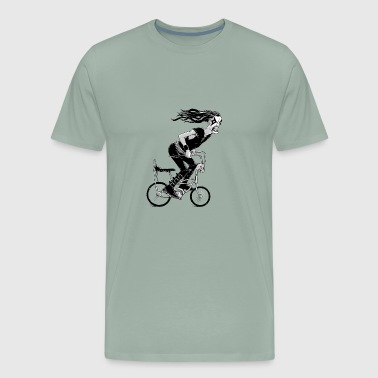 Cool Sketch Metal to the Pedal - Men's Premium T-Shirt