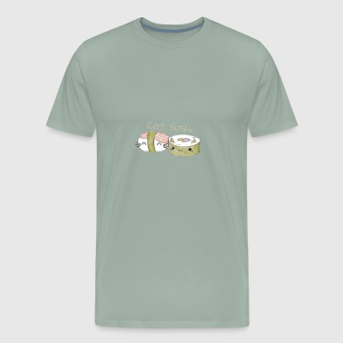 Hungry? Eat Cat Sushi!  - Men's Premium T-Shirt