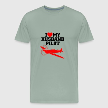 01 husband pilot - Men's Premium T-Shirt