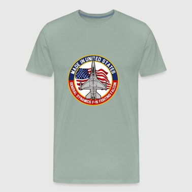General Dynamics F16 Fighting Falcon - Made in USA - Men's Premium T-Shirt