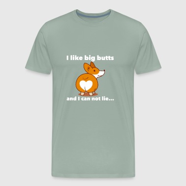 big butts corgi - Men's Premium T-Shirt