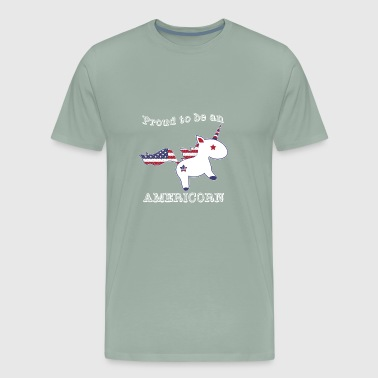 Pround To Be An Americorn Funny 4th of July - Men's Premium T-Shirt