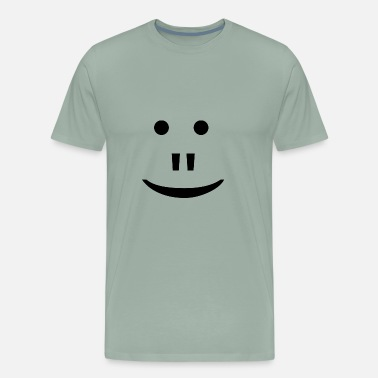 Alien Face face - Men's Premium T-Shirt