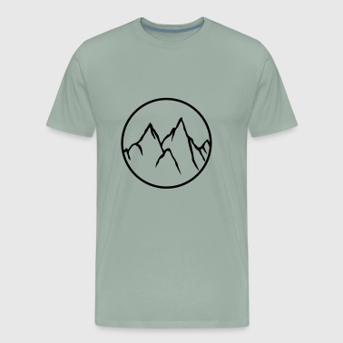 circle round climber climb mountains high sport ho - Men's Premium T-Shirt