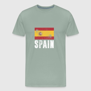 SPAIN FLAG VINTAGE - Men's Premium T-Shirt
