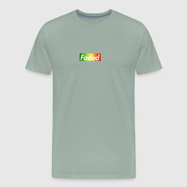Faded Box Logo - Rasta Rainbow - Men's Premium T-Shirt