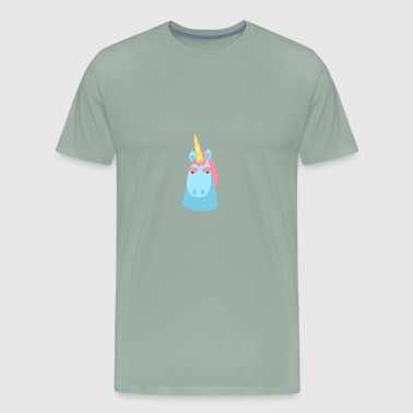 Unicorn character faces - Men's Premium T-Shirt