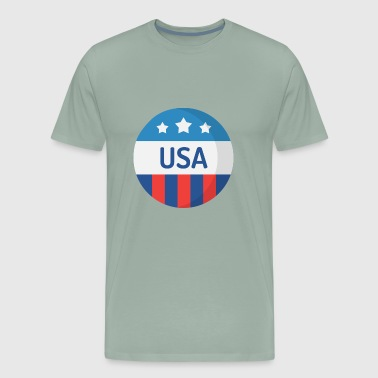 USA Sticker - Men's Premium T-Shirt