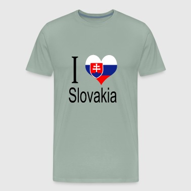 I Love Slovakia Heart Country europe gift flag - Men's Premium T-Shirt