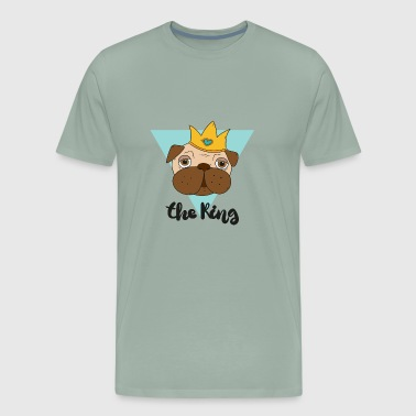 Fun concept with the king of pugs - Men's Premium T-Shirt
