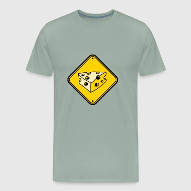 warning note caution caution caution cheese holes - Men's Premium T-Shirt