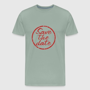 Save the date stamp logo - Men's Premium T-Shirt