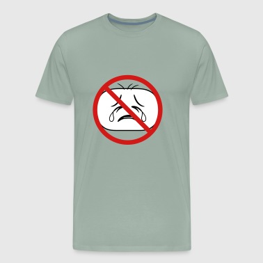 shield prohibited not allowed face head sad cry ho - Men's Premium T-Shirt