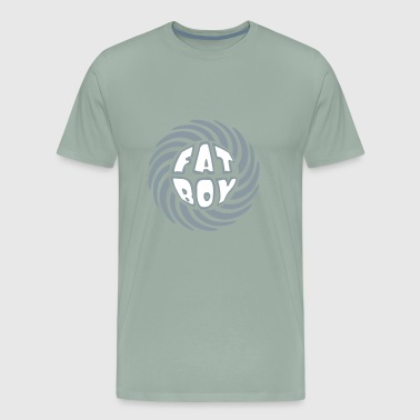 swirl circle round design fat boy saying man fat t - Men's Premium T-Shirt