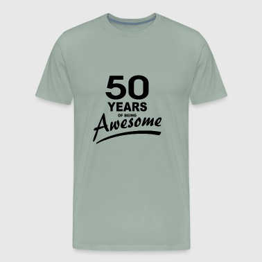 50 Years of being AWESOME - Men's Premium T-Shirt