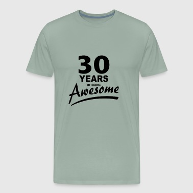 30 Years of being AWESOME - Men's Premium T-Shirt