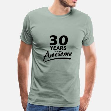 30s 30 Years of being AWESOME - Men's Premium T-Shirt