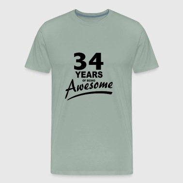 34 Years of being AWESOME - Men's Premium T-Shirt