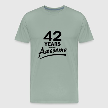 42 Years of being AWESOME - Men's Premium T-Shirt