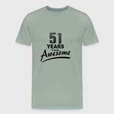 51 Years of being AWESOME - Men's Premium T-Shirt