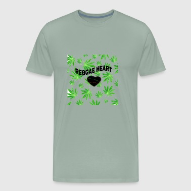 Reggae heart with cannabis - Men's Premium T-Shirt