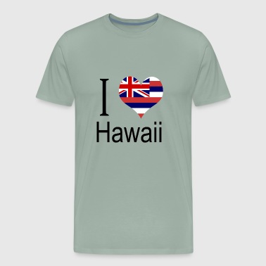 State Of Hawaii Flag I Love Hawaii Heart Country USA gift flag - Men's Premium T-Shirt