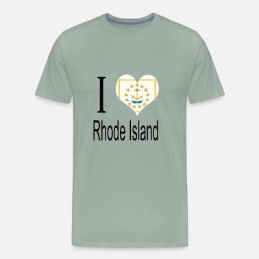 United Nations Symbol I Love Rhode Island Heart Country USA gift flag - Men's Premium T-Shirt