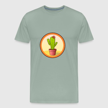 Cactus In A Pot - Men's Premium T-Shirt