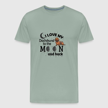 I Love My Dachshund - Men's Premium T-Shirt