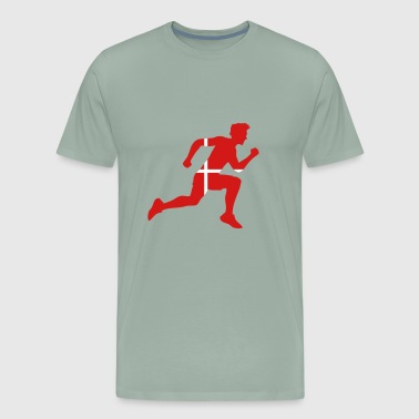 denmark denmark endurance race striker goal-shot a - Men's Premium T-Shirt