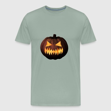 Happy Halloween - scary smile pumpkin - Men's Premium T-Shirt