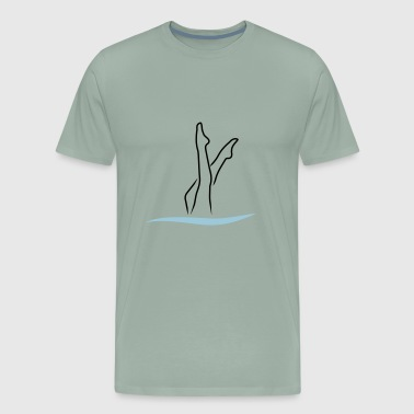 Synchro Swimming - Men's Premium T-Shirt