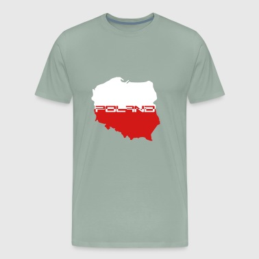 Poland poland text cool map World Cup text team cr - Men's Premium T-Shirt