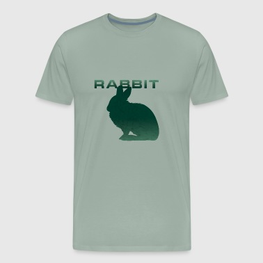Rabbit Silhouette Bunny tooth Rabbits - Men's Premium T-Shirt